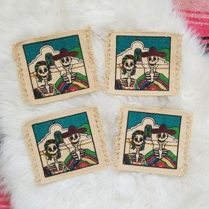 2/$16 ~ Day of the Dead Coaster Set of 4